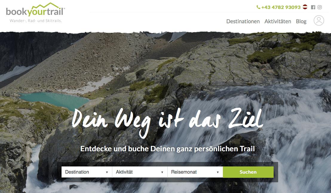 Screenshot des Tools: Entdecke deinen ganz persönlcihen Trail