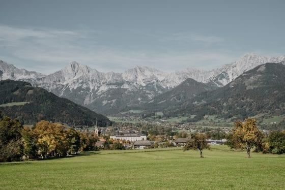 Ausblick auf Dorf