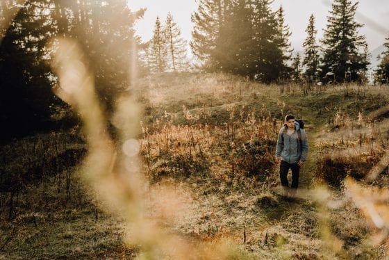 Wandern durch das Feld