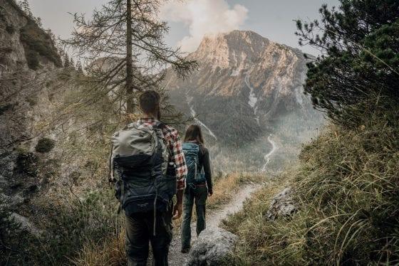Wanderung in Richtung Berg