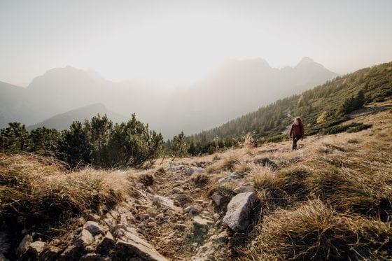 Wanderung hoch am Berg