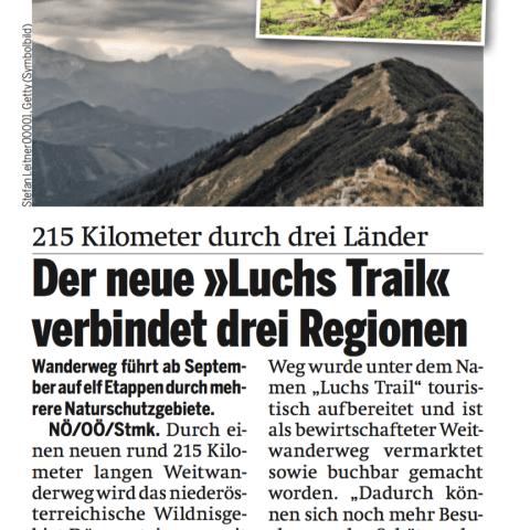 Artikel Screenshot: Der neue Luchs Trail verbindet 3 Regionen
