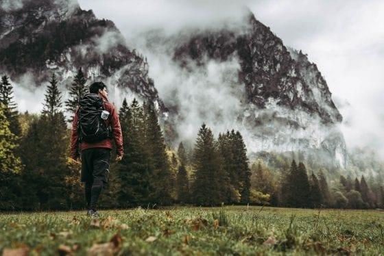 Aussicht vor dem Berg auf Etappe 2